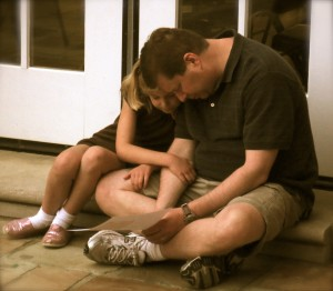 daddy/daughter prayer time